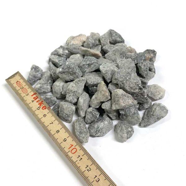 Grå granit 8-11 mm 1 ton leveret i bigbag